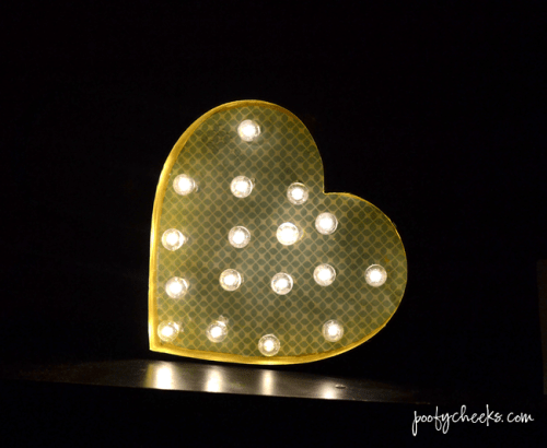 DIY Heart Marquee Light In A Box