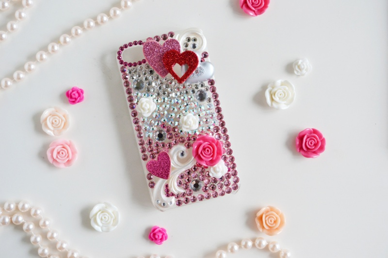 Picture of diy heart mobile phone case for valentines day for Mobile case diy