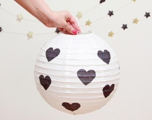 Diy Hearts And Stars Paper Lanterns