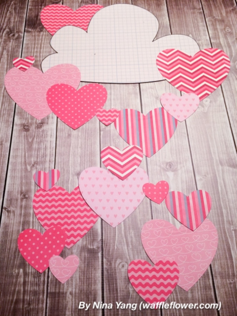 Diy Hearts Wall Decoration For Valentines Day