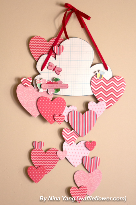 Diy Hearts Wall Decoration For Valentine 39 S Day Shelterness