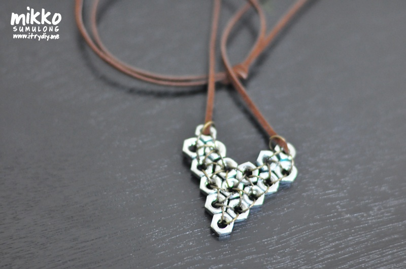 Diy Hex Nut Pendant As A Gift For Valentines Day