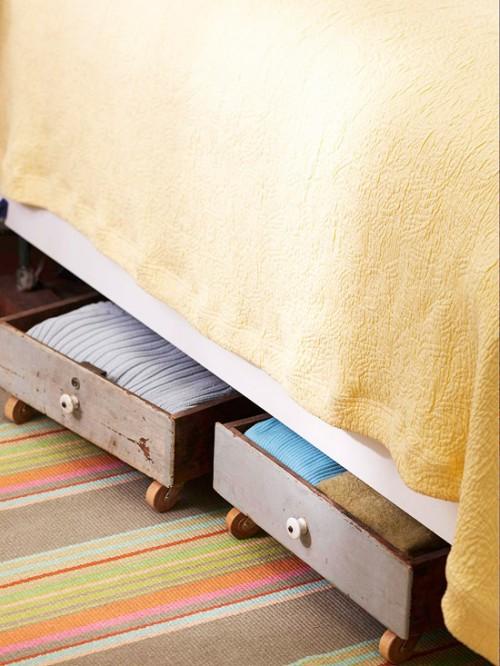 Diy hidden bedroom storage 500x666