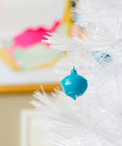 DIY High Gloss Wooden Christmas Ornaments