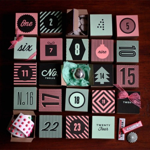DIY Holiday Box Advent Calendar