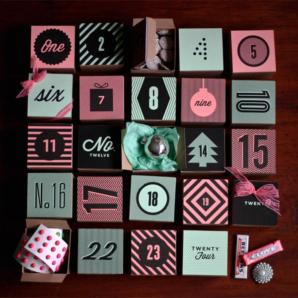 Diy Holiday Box Advent Calendar