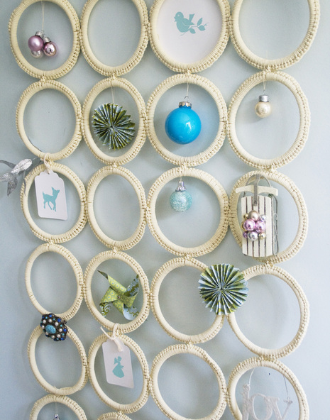 Diy Holiday Christmas Charm Holder From Ikea Scarf Hanger