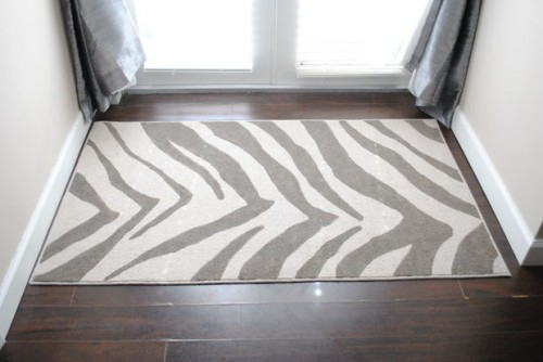 zebra printed rug (via instructables)