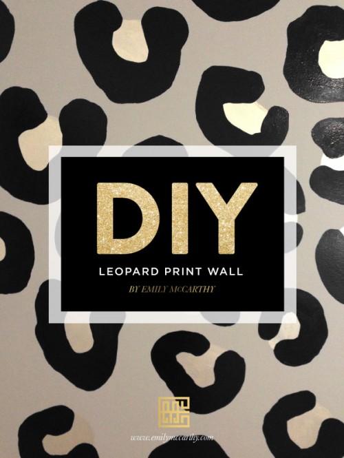 leopard print wall (via emilymccarthy)