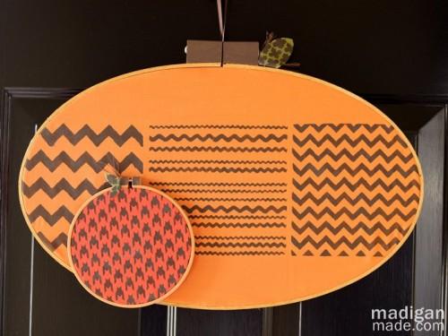 halloween pumpkin of hoops (via madiganmade)