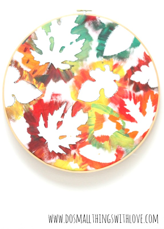 fall embroidery hoop art