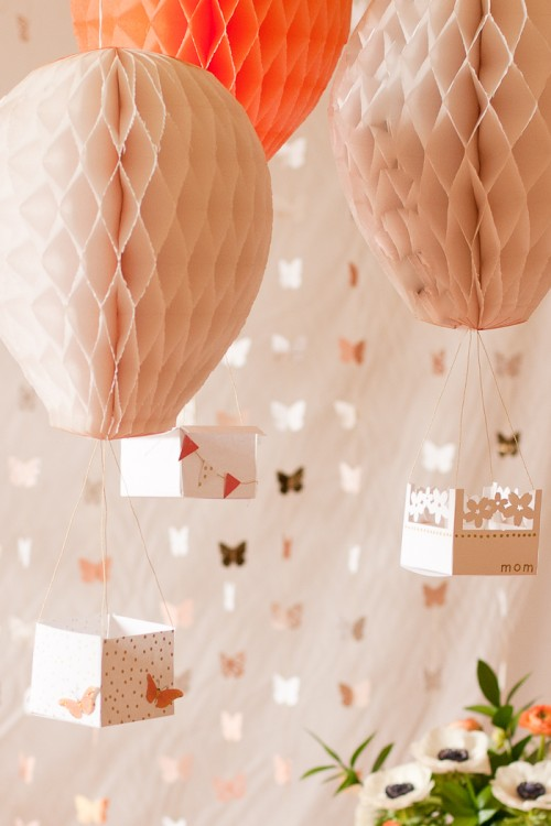 DIY Hot Air Balloon Party Decorations Shelterness