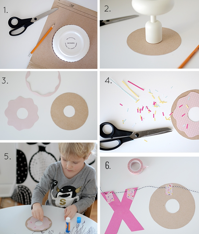 Picture Of diy hugs kisses and donuts valentine garland  5