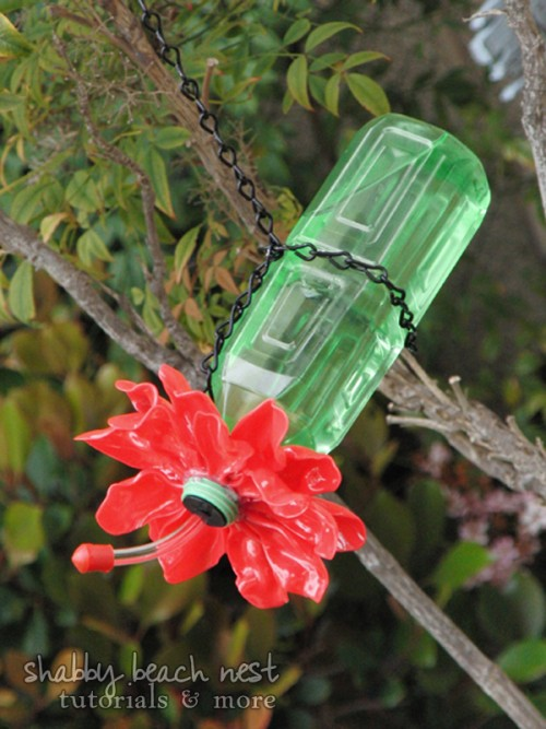 Diy Hummingbird Feeder Of Recycled Materials