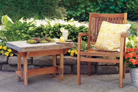 DIY Hypertufa Table For Your Patio
