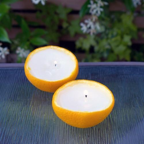 scented orange candles (via popsugar)