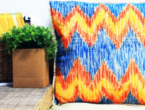 DIY IKAT Pillow Case