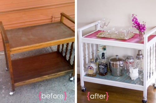 vintage bar cart (via thesundaysparkle)