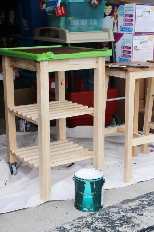 Awe Inspiring Diy Ikea Bosse Stools And Bekvam Kitchen Cart Hack Shelterness Alphanode Cool Chair Designs And Ideas Alphanodeonline