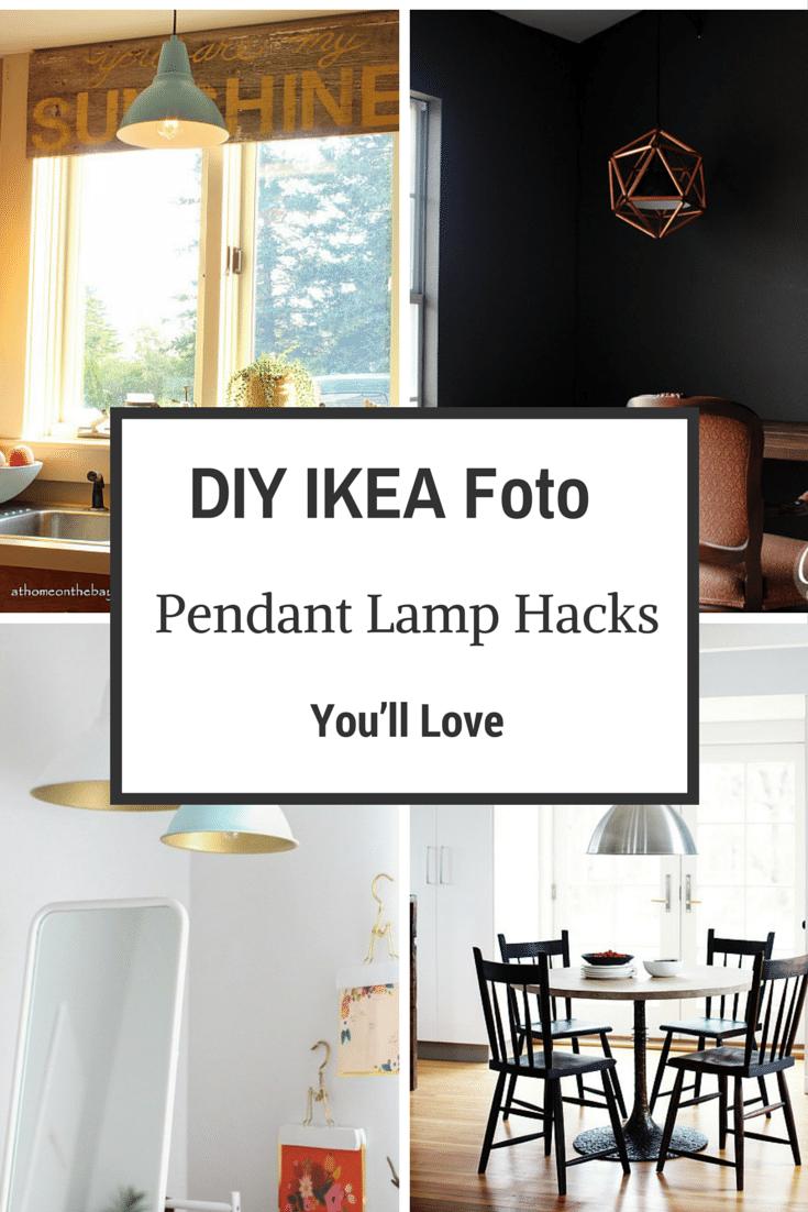 7 DIY IKEA Foto Pendant Lamp Hacks You'll Love
