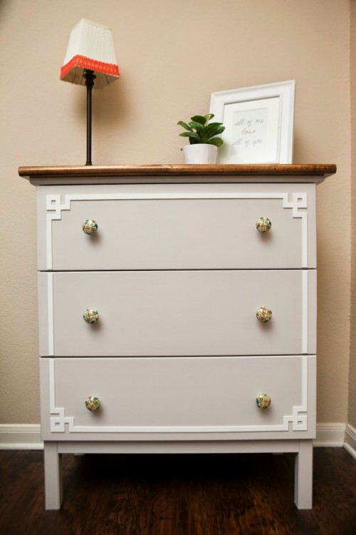 DIY IKEA Hack: Cute Tarva Dresser Makeover