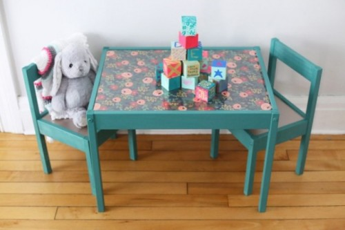 DIY IKEA Hack: Kids' Table Makeover