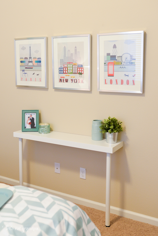 picture of diy ikea hack narrow console table