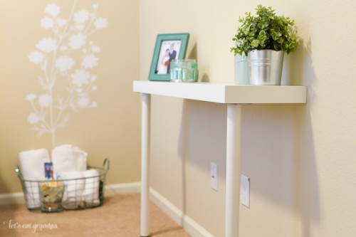 Diy ikea hack narrow console table shelterness for Ikea hall table