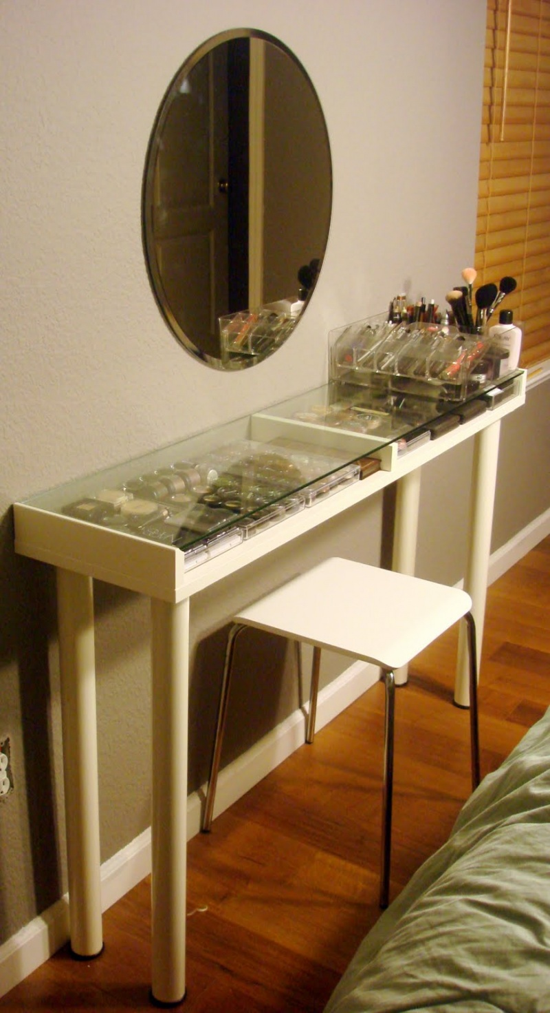 lots of storage ideas besides ikea diy makeup vanity besides bedroom
