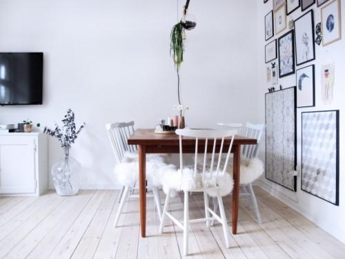 DIY IKEA Sheep Skin Hack Into Chair Covers