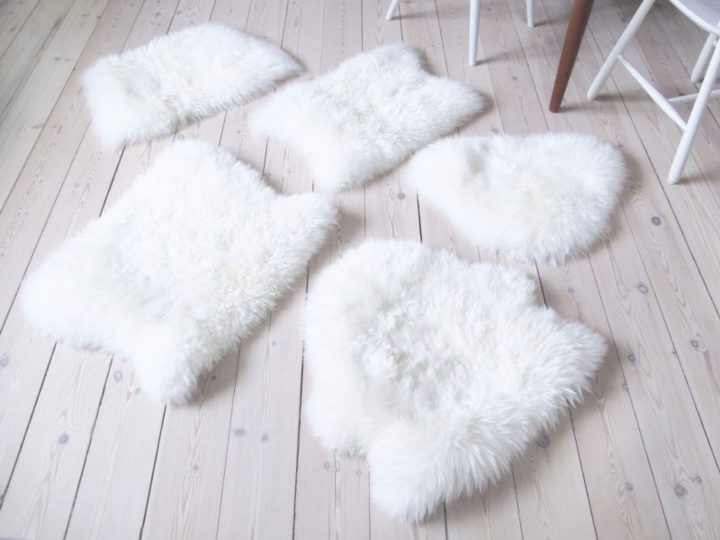 Picture Of diy ikea sheep skin hack into chair covers  5