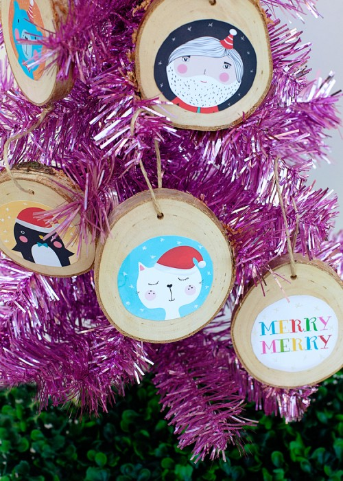 DIY Illustrated Christmas Ornaments To Make With Kids