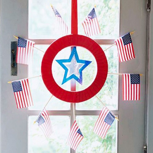 DIY Indoor Wreath For 4th of July