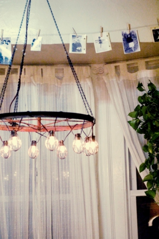 Picture of diy industrial and vintage chandelier - Diy industrial chandelier ...