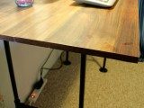 simple industrial pipe desk