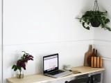 concrete block desk