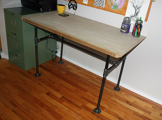Picture of industrial pipe desk for Industrial pipe desk