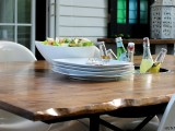 live edge industrial table
