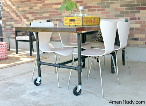 plumbing pipe dining table (via 4men1lady)