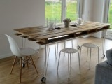 pallet dining table with wheels
