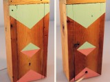 Diy Industrial Lamp With A Geometric Painted Wooden Base