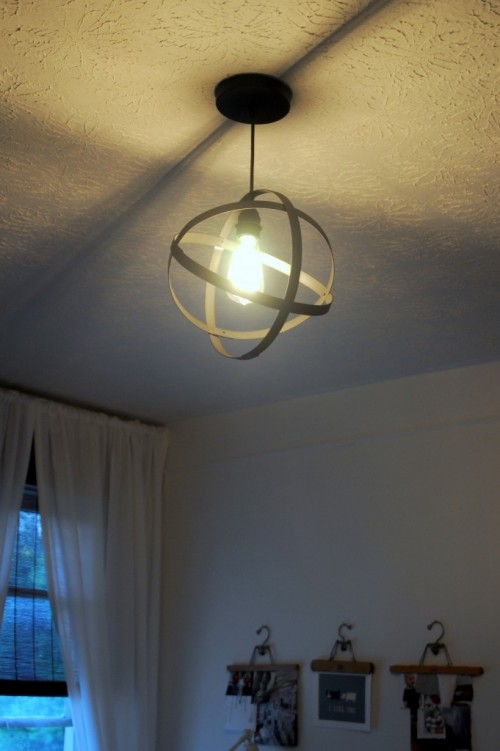 DIY Industrial Orbit Pendant Lamp