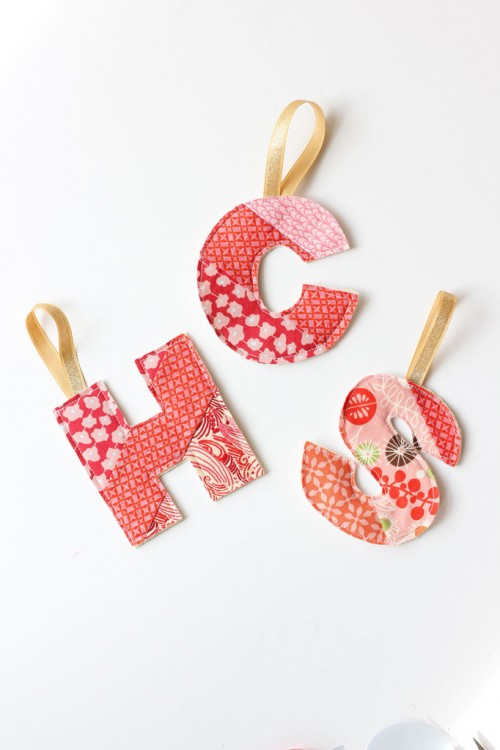 DIY Initial Fabric Ornament And Gift