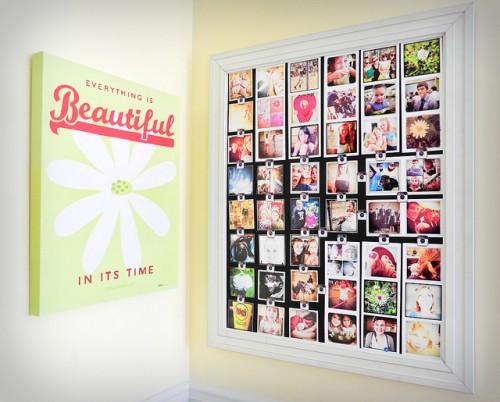 DIY Instagram Photos Wall Organizer