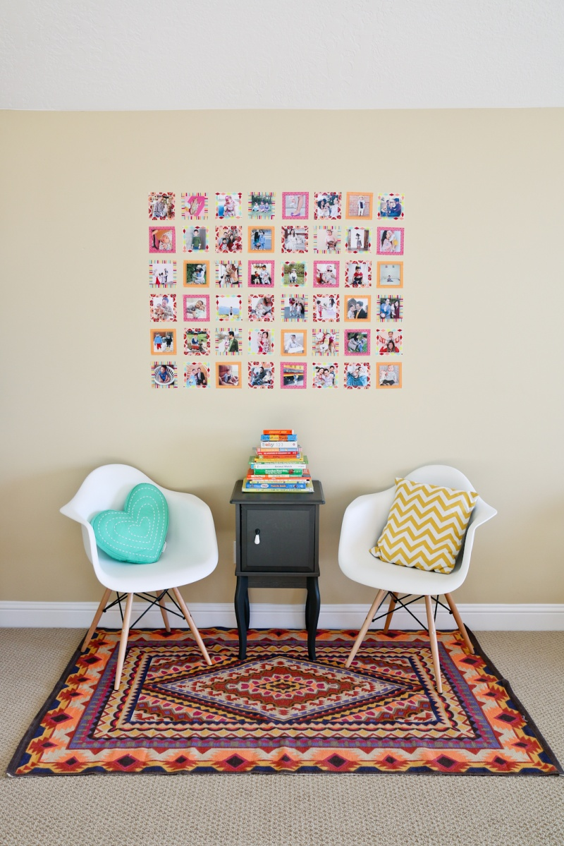 Picture Of diy instagram wall with colorful washi tape  2