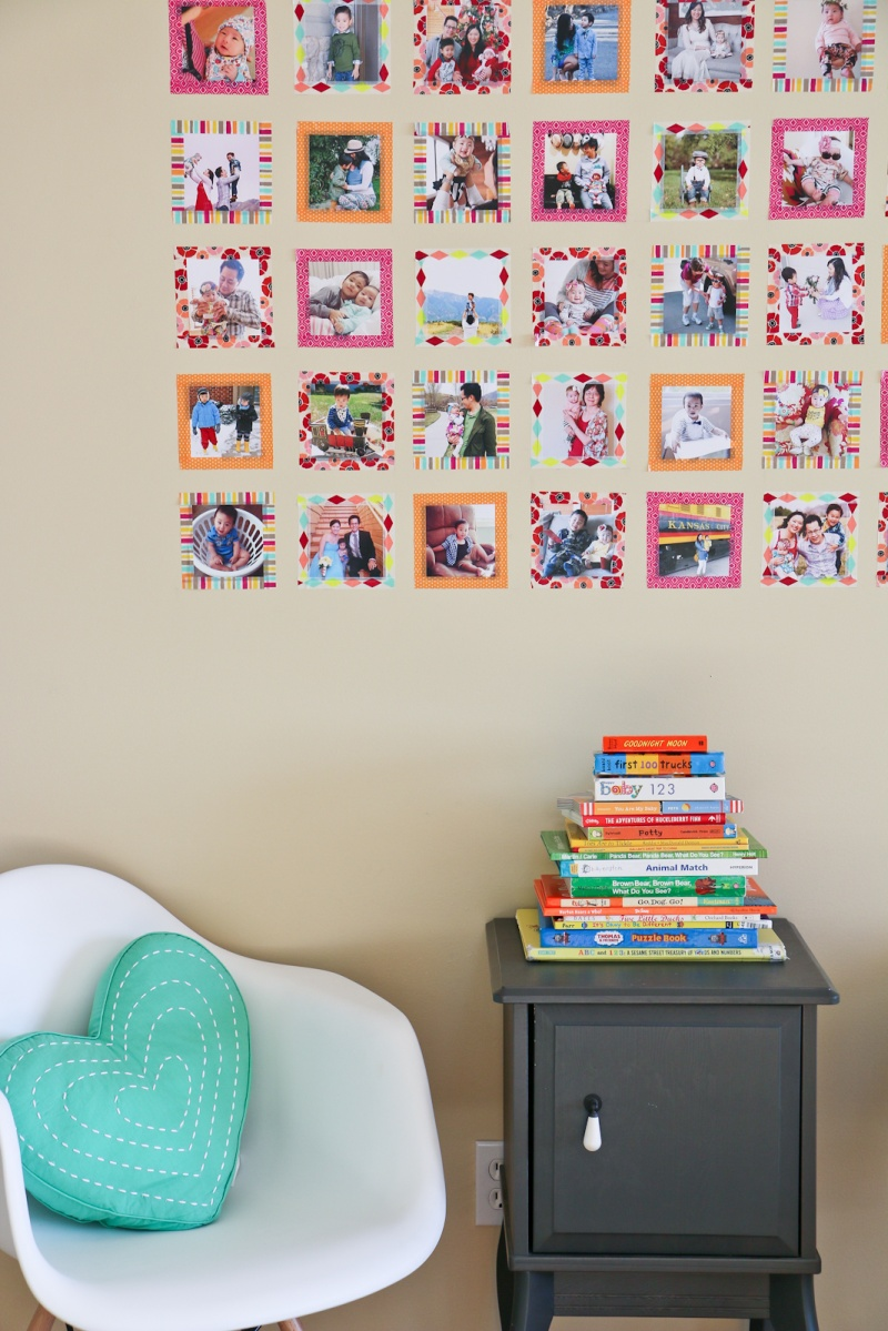 Picture Of diy instagram wall with colorful washi tape  3