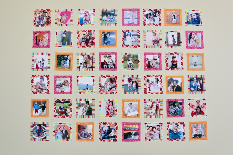 Picture Of diy instagram wall with colorful washi tape  4