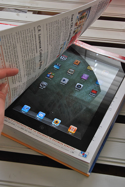 DIY iPad Book Case