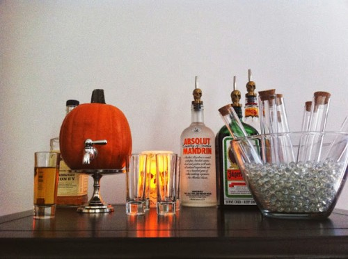 DIY Jack-O-Lantern Beverage Dispenser