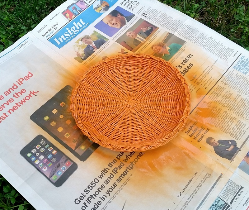 Picture Of diy jack o lantern decor from a plate holder  2